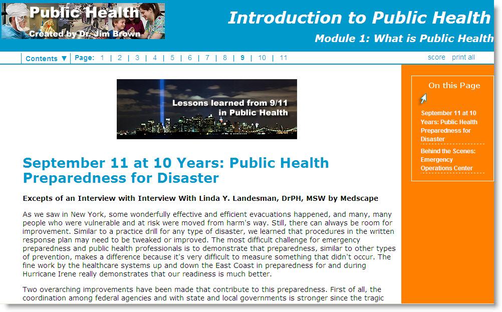 Public Health Lesson