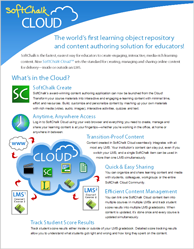 SoftChalk Cloud Flyer for SCOLC