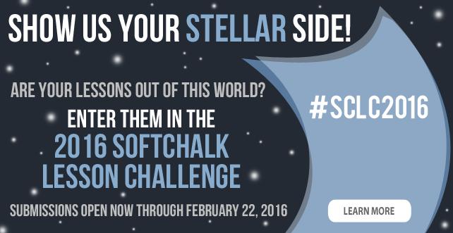 2016 SoftChalk Lesson Challenge