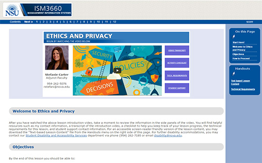 Ethics and Privacy – Nova Southeastern University