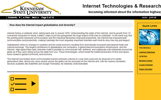 Internet Technologies & Research – Kennesaw State University