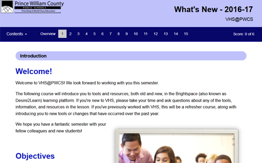 What's New: 2016-17: VHS@PWCS – Virtual High School at Prince William County Schools