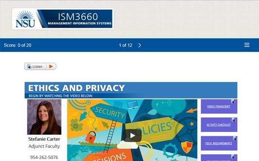 Ethics and Privacy – Nova Southeastern University
