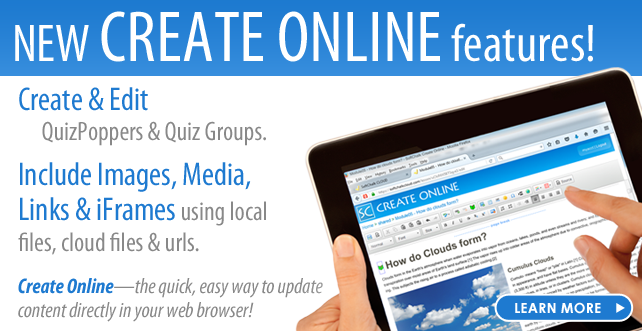 New Create Online Features!