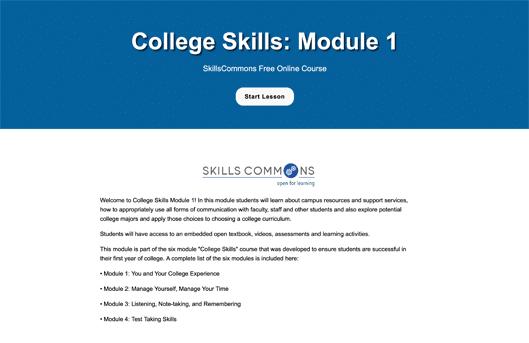 College Skills: Module 1